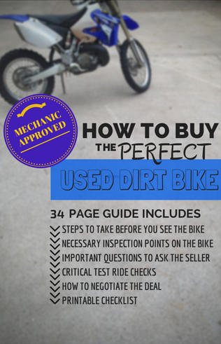 how to buy a used motorcycle or dirt bike