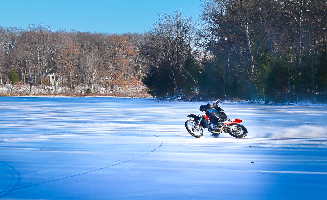 motorcycle ice riding