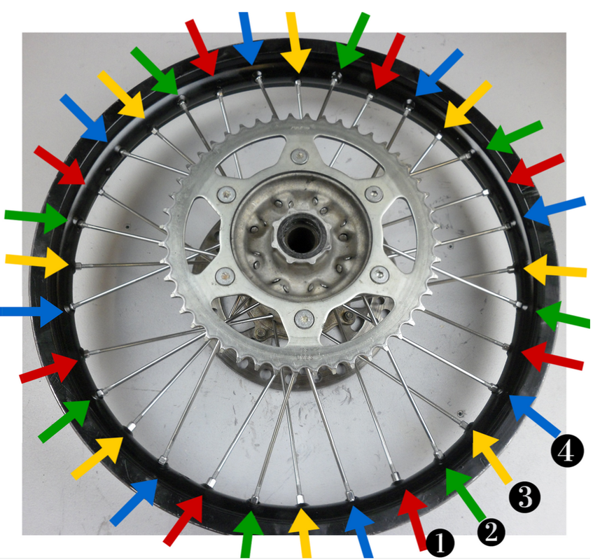 How to tension dirt bike spokes