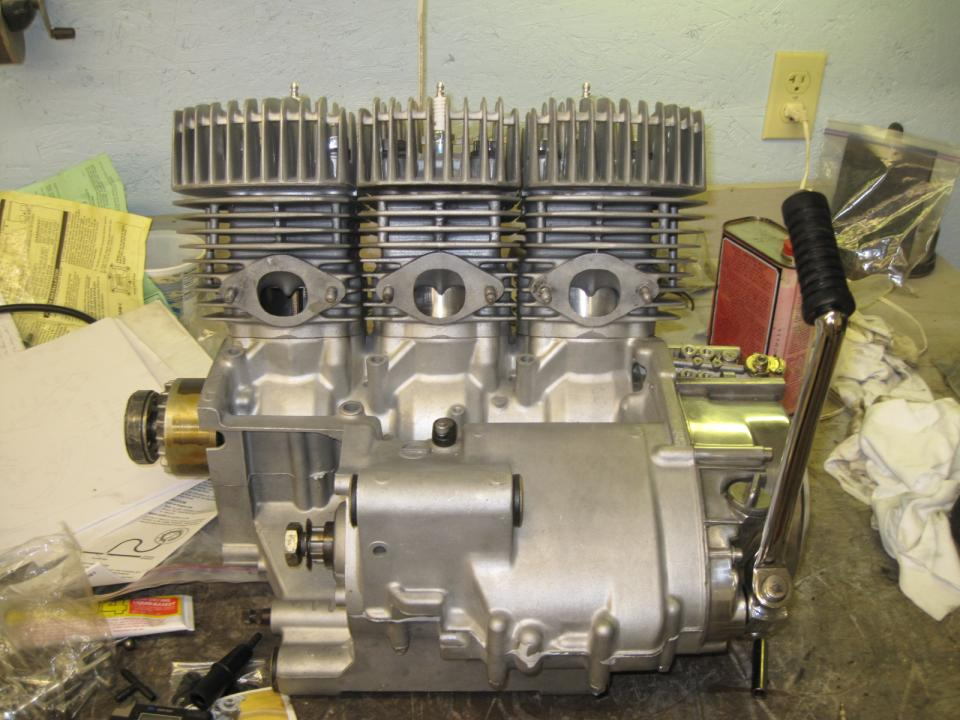 Kawasaki H2 750 Engine Rebuild Half Way Done