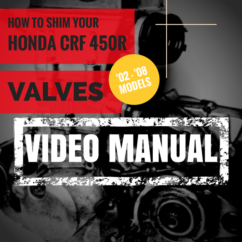 how to adjust valves honda crf 450 instructions