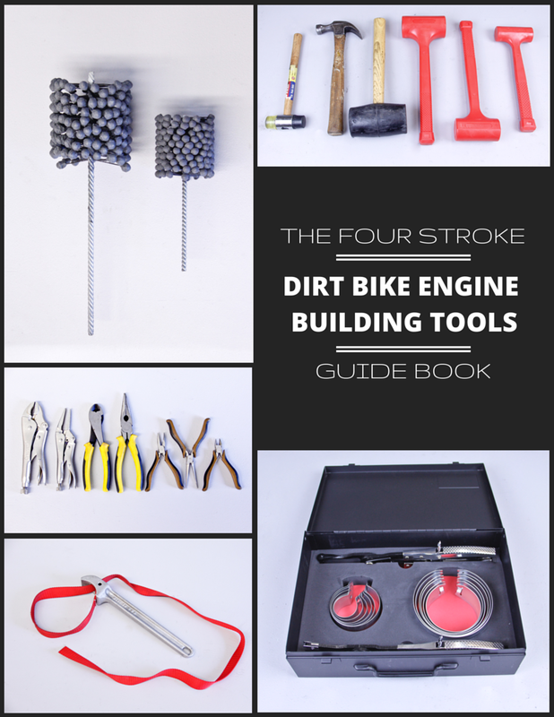 The Four Stroke Dirt Bike Engine Building Tools Guide Book Cover Image