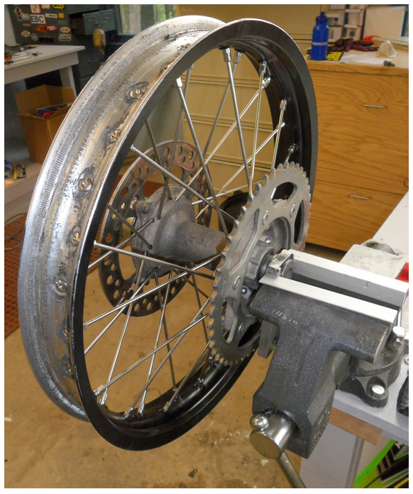 How to set up a dirt bike wheel for truing