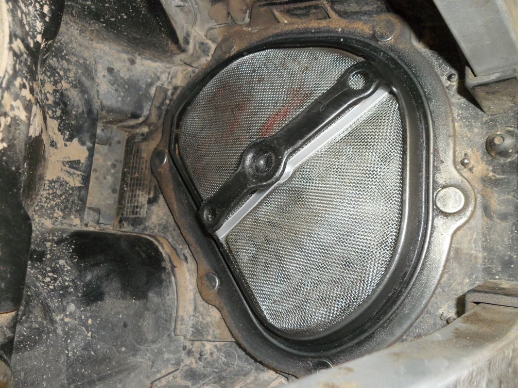example of a dirty airbox on a dirt bike